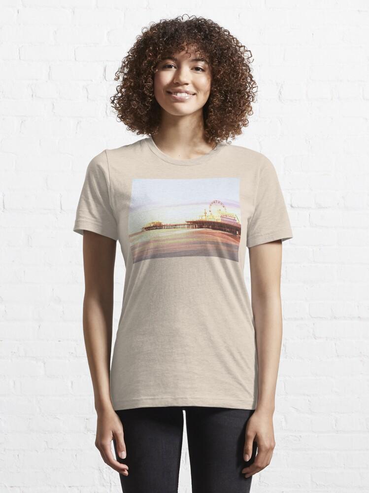 Alternate view of Santa Monica Pier Sunrise Essential T-Shirt