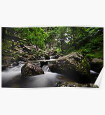 River at Aber falls  Poster