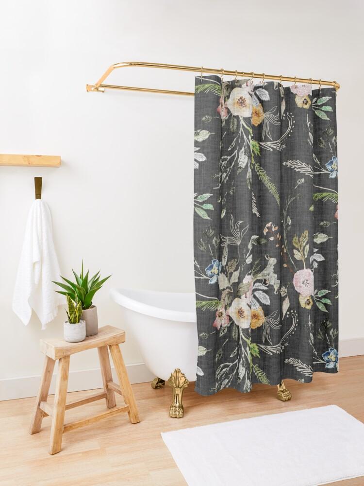 Alternate view of La Boheme Floral  Shower Curtain