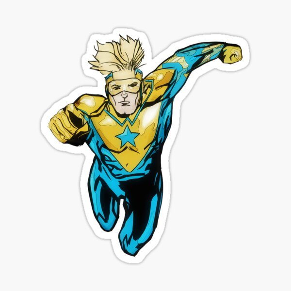 Action Flying Hero Sticker