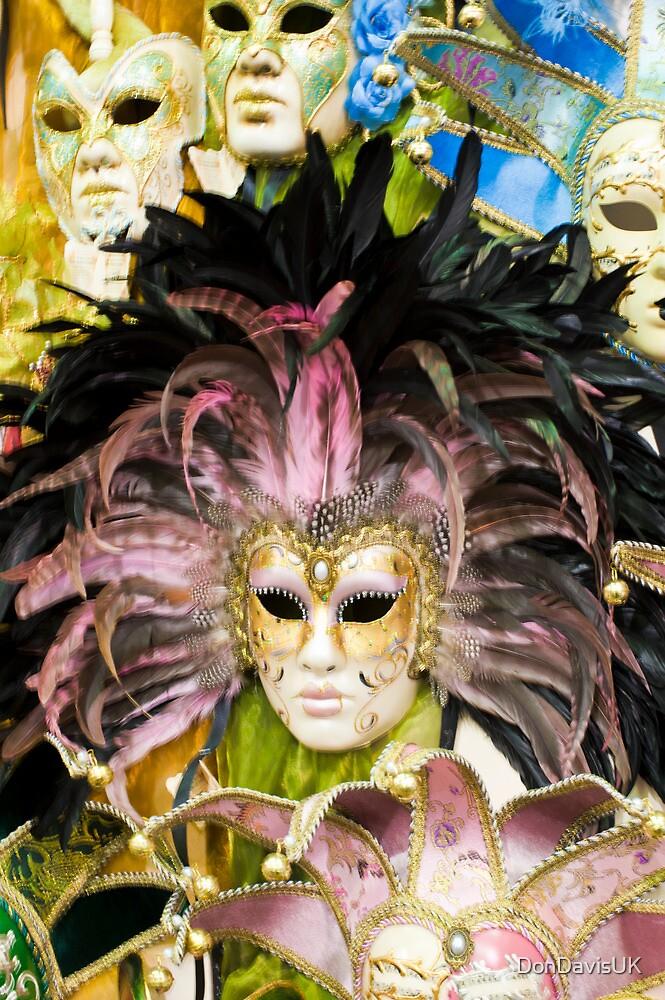 Masquerade Wall: Portobello Market, London. by DonDavisUK
