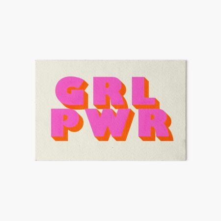 Girl Power - typography Art Board Print