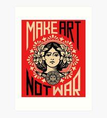 Make Art Not War Symbol Art Print
