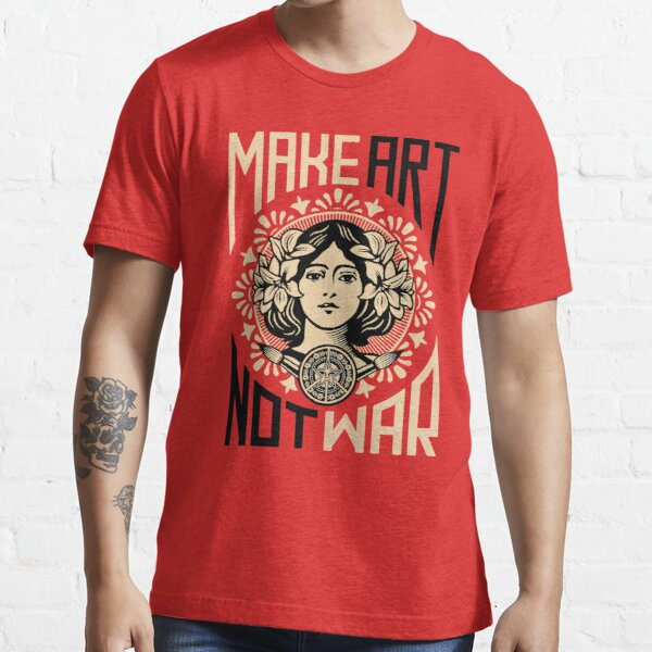 Make Art Not War Symbol Essential T-Shirt