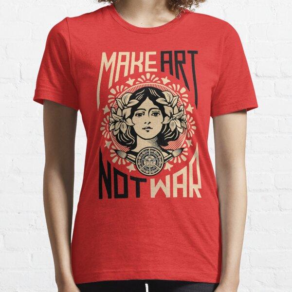 Make Art Not War Symbol Essential T-Shirt