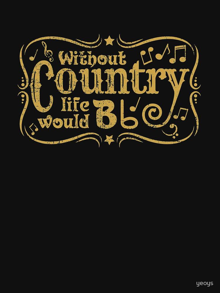 Ohne Land würde das Leben B flach - lustiges Musik-Zitat-Geschenk von yeoys