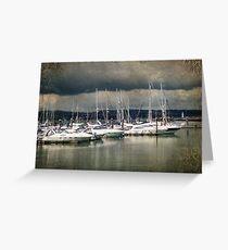 Storm Clouds over Brixham Greeting Card