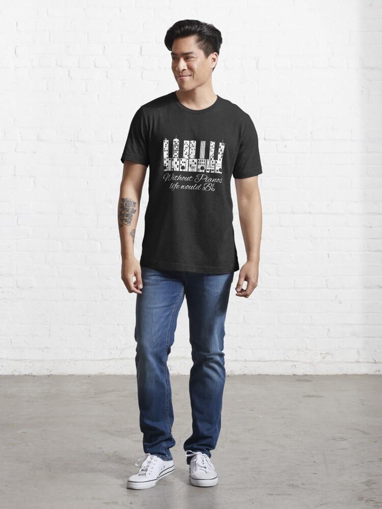 Alternative Ansicht von Ohne Klaviere würde das Leben B flach - lustiges Musik-Zitat-Geschenk Essential T-Shirt