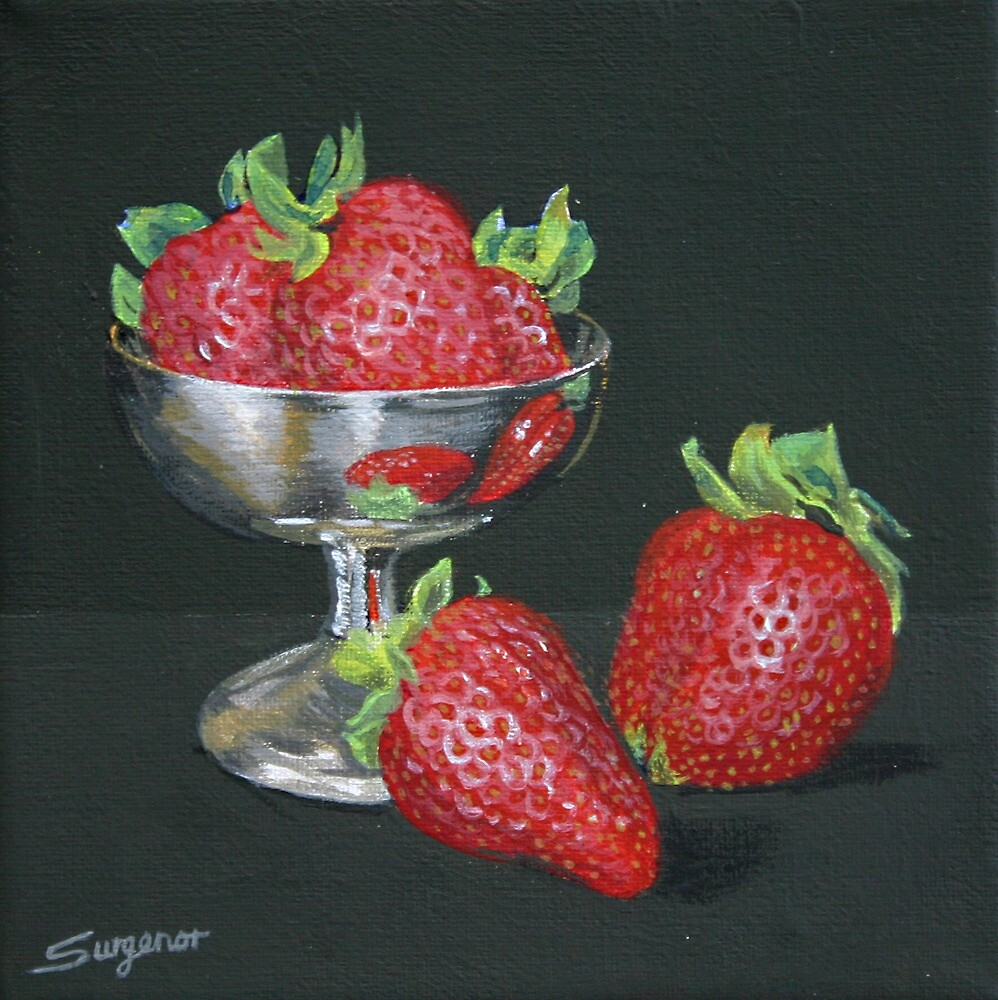 Sweet strawberries by Freda Surgenor