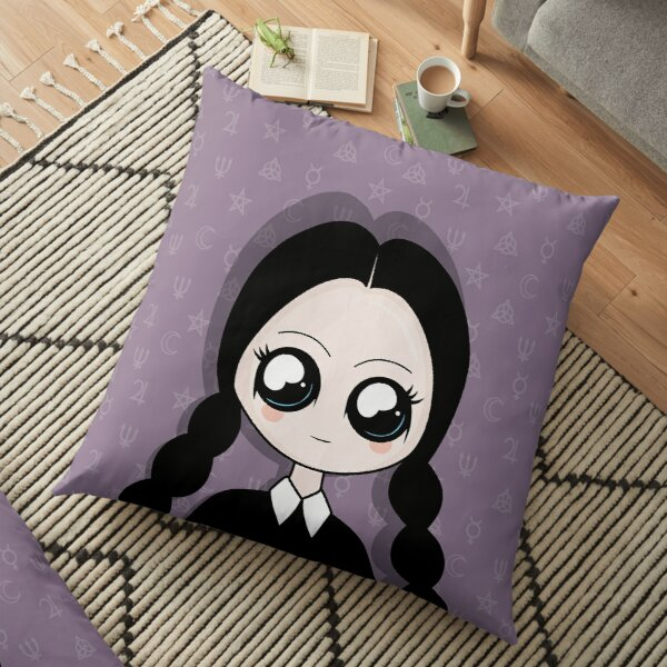 Kawaii Wednesday Addams Floor Pillow