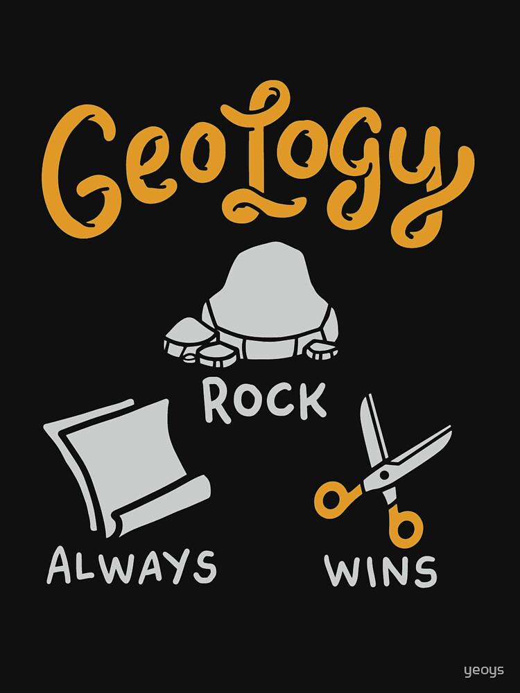 Felsen gewinnt immer Geologie-Felsen - lustiges Geologie-Zitat-Geschenk von yeoys