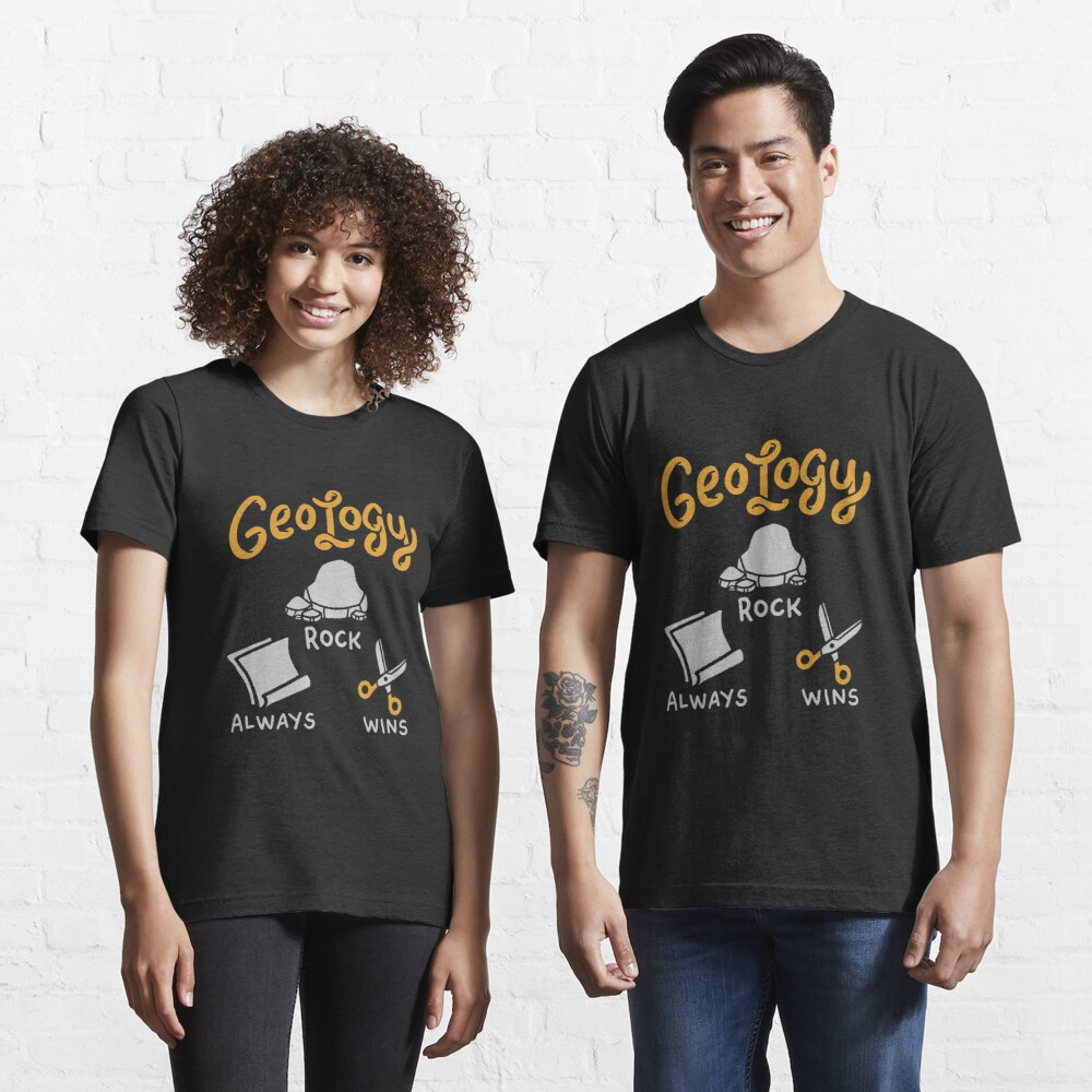 Felsen gewinnt immer Geologie-Felsen - lustiges Geologie-Zitat-Geschenk Essential T-Shirt