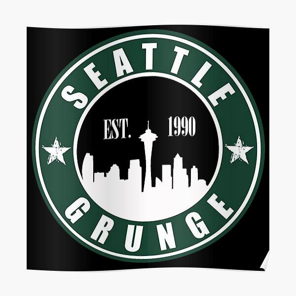 Grunge de Seattle Póster