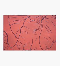 Simplistic Elephant Painting Photographic Print
