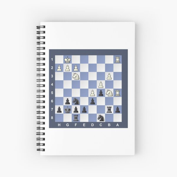 Chess, Black to move, Puzzle #Chess #Puzzle #ChessPuzzle Spiral Notebook