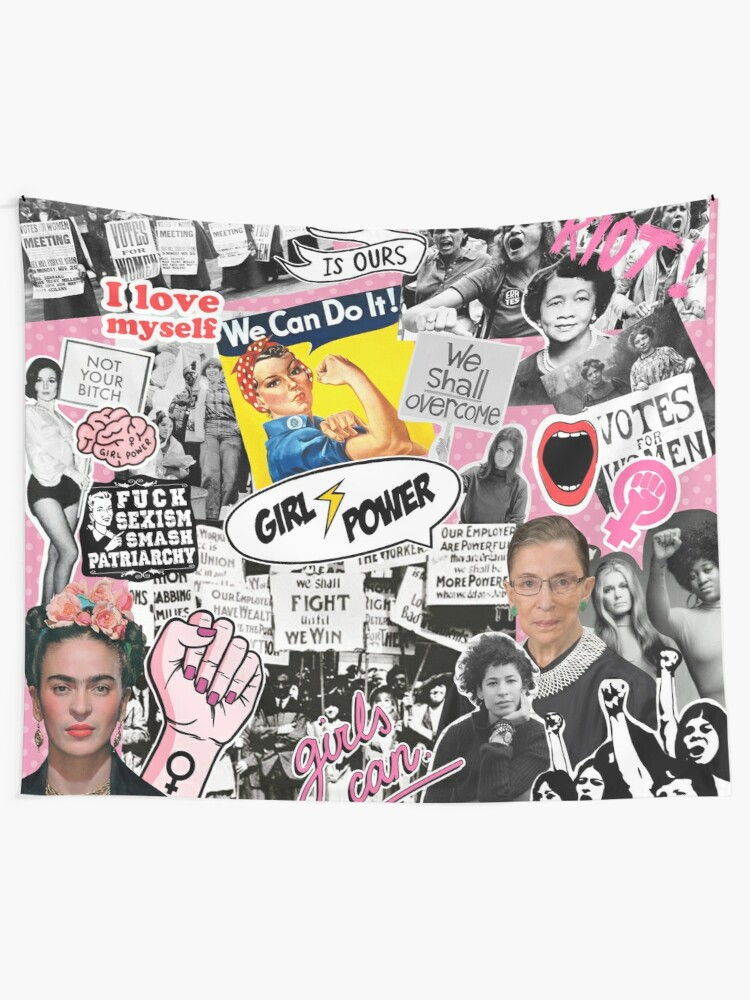 Alternate view of Feminism collage  Tapestry
