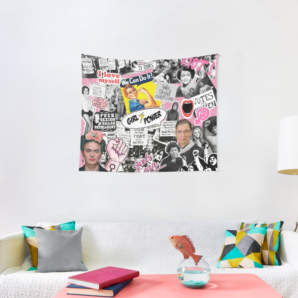 Feminism collage  Tapestry