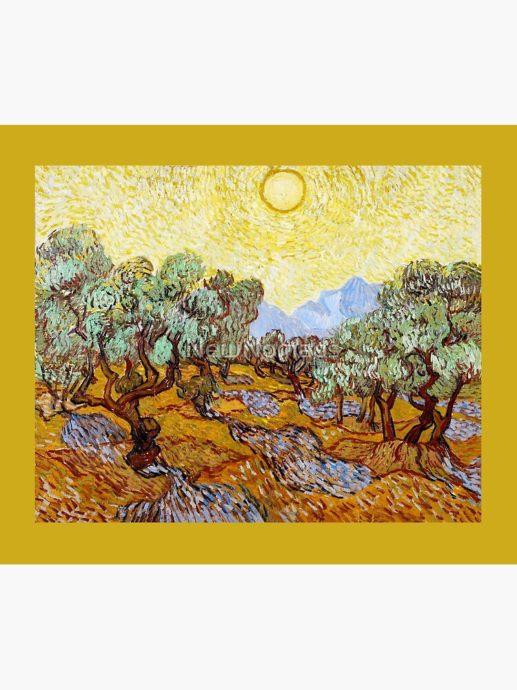 Van Gogh - Olive Trees with Yellow Sky and Sun by NewNomads