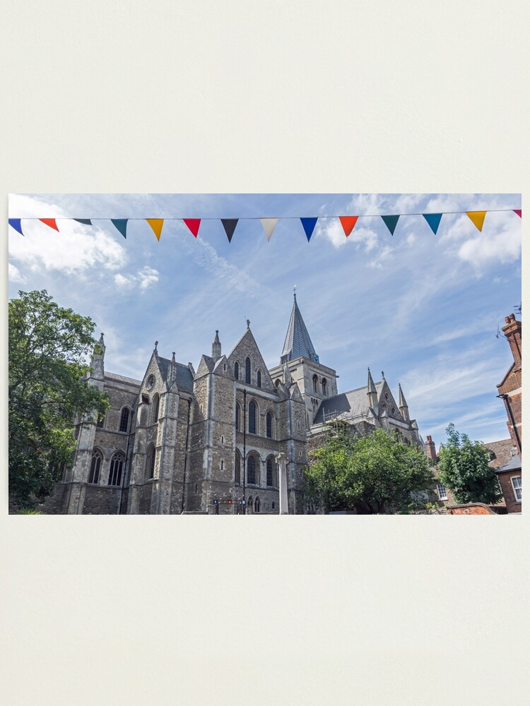 Alternate view of Rochester Cathedral, England Photographic Print
