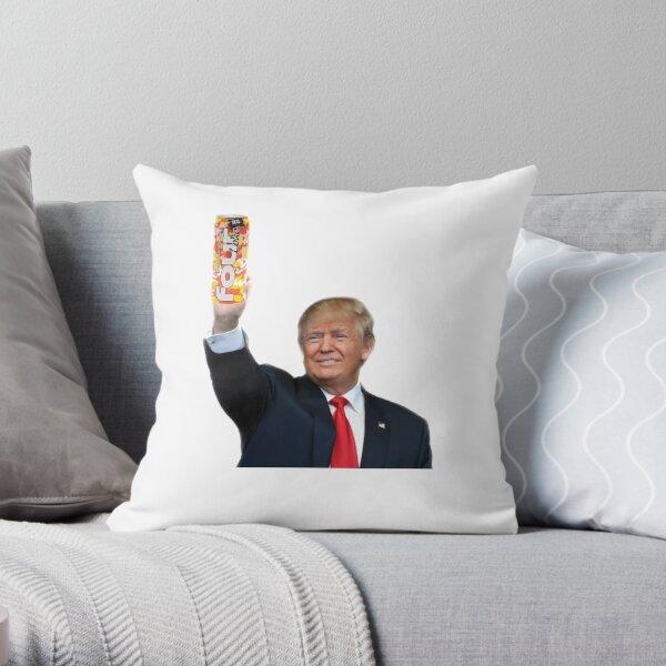 trump holding 4loko Throw Pillow