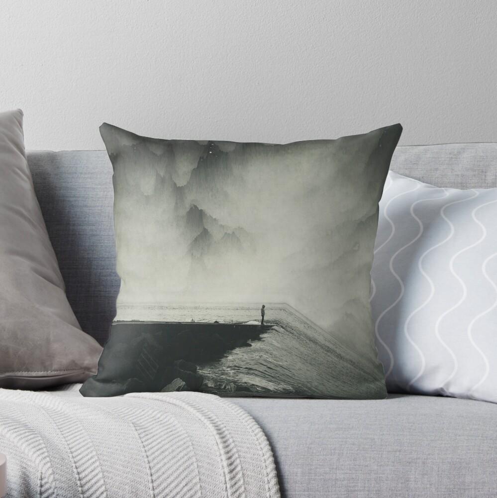 VertigOcean - surreal seascape Throw Pillow
