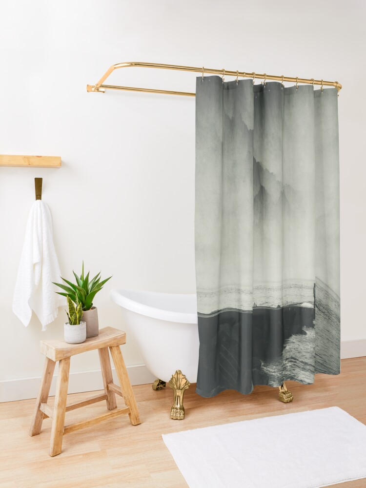 Alternate view of VertigOcean - surreal seascape Shower Curtain