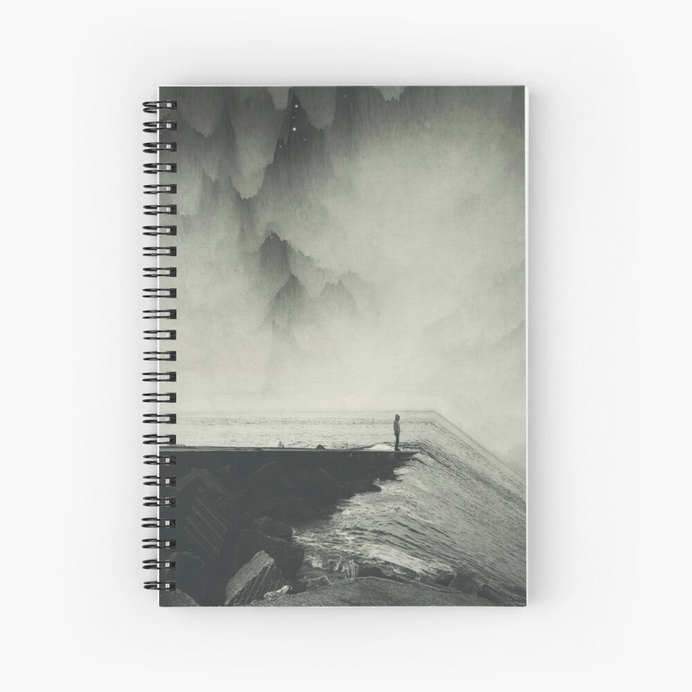 VertigOcean - surreal seascape Spiral Notebook