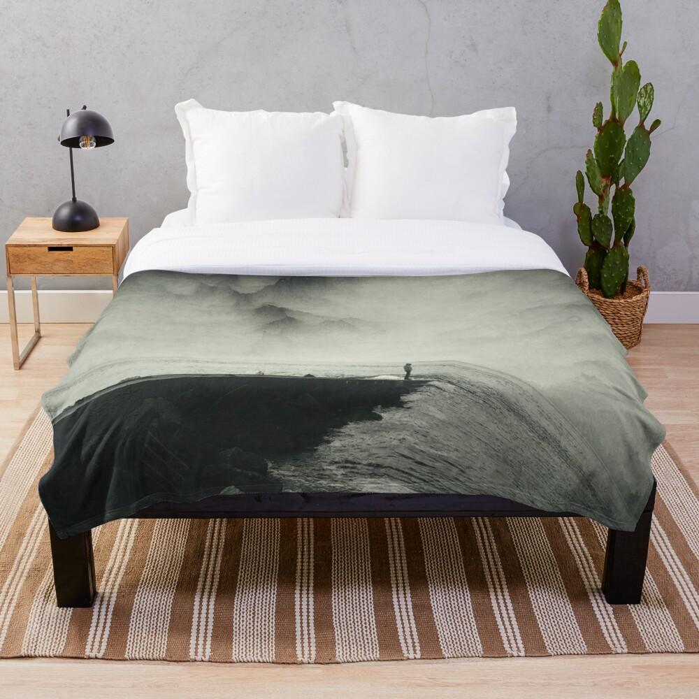 VertigOcean - surreal seascape Throw Blanket
