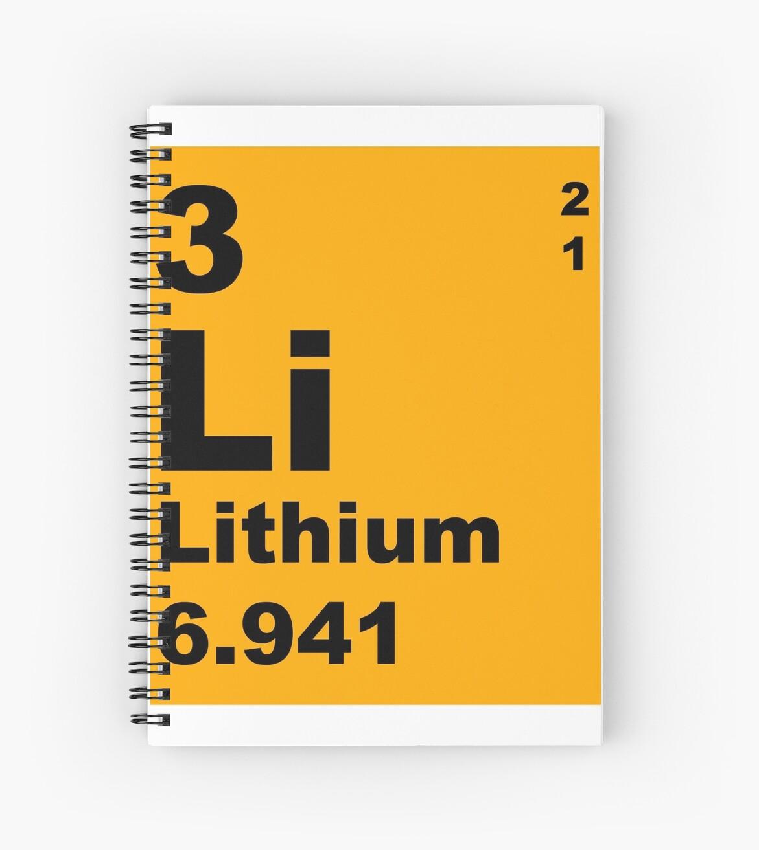 Cuadernos de espiral tabla peridica de litio de elementos de tabla peridica de litio de elementos de walterericsy urtaz Choice Image