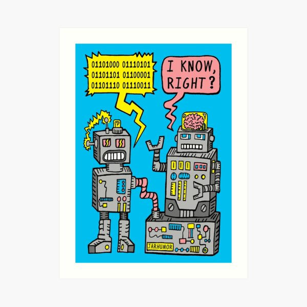 Robot Talk Art Print