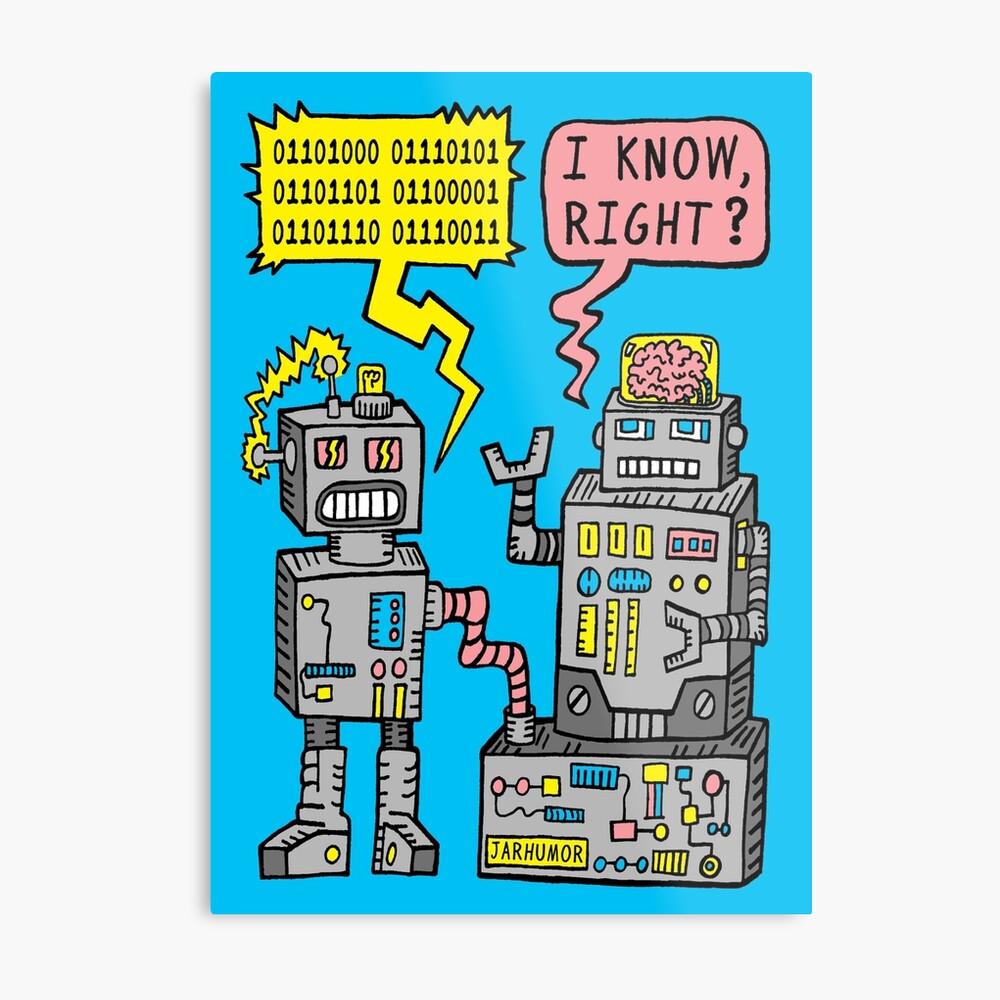 Robotergespräch Metallbild