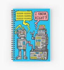 Cuaderno de espiral Charla de robot