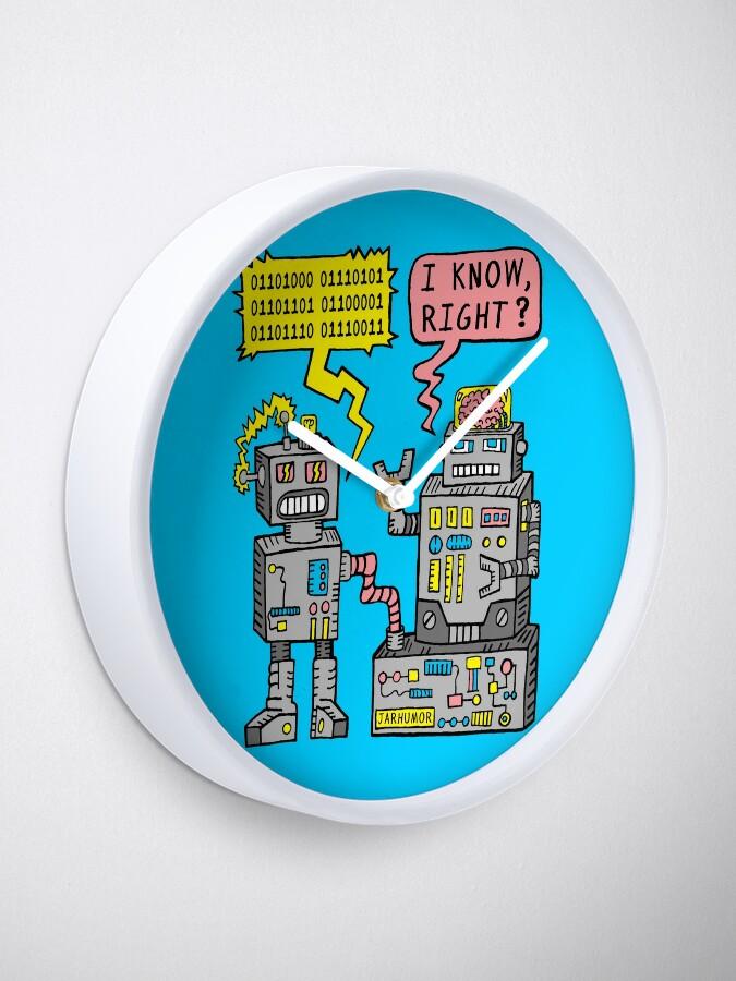 Alternative Ansicht von Robotergespräch Uhr