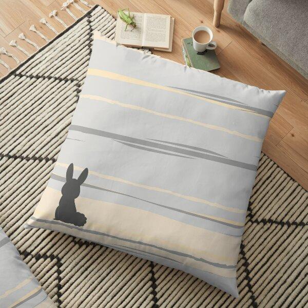 Rabbit in a storm Floor Pillow