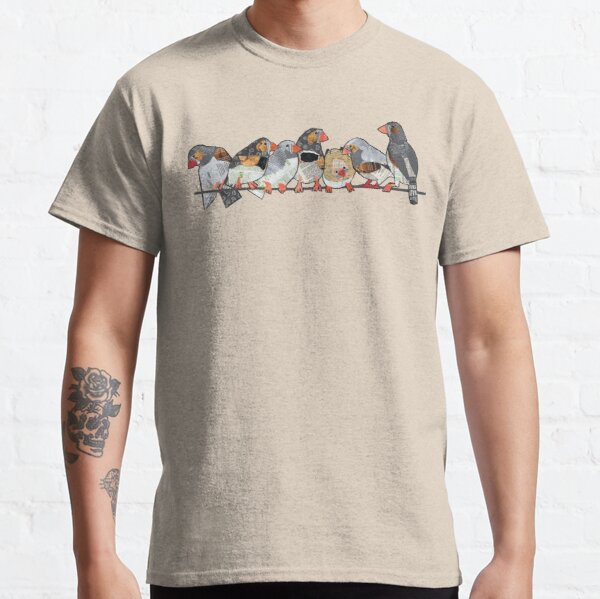 Seven zebra finches Classic T-Shirt