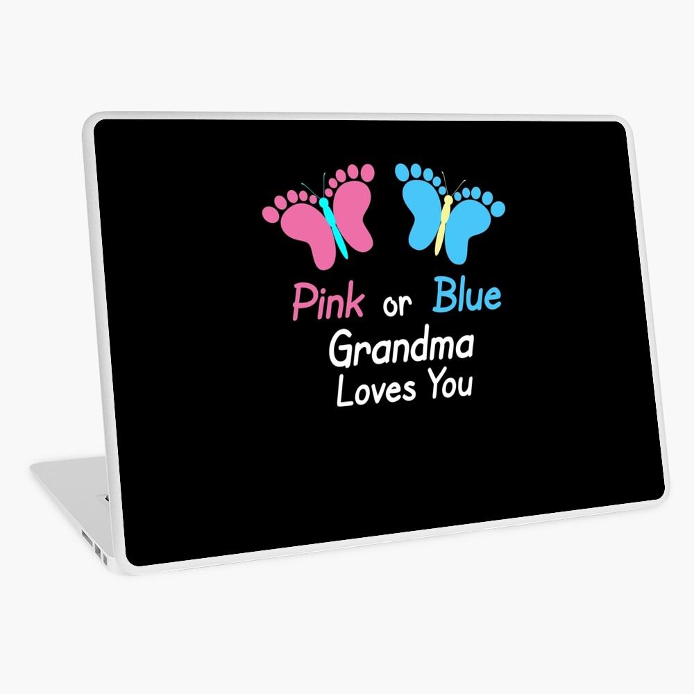 Gender Reveal Grandma Butterflies Laptop Skin