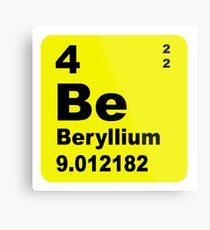 lienzo metlico tabla peridica de elementos de berilio - Tabla Periodica Berilio