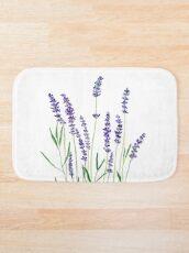 purple lavender  Bath Mat