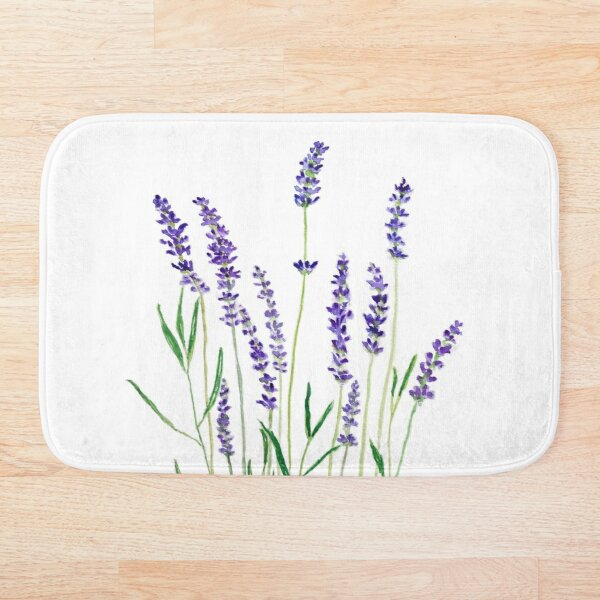 purple lavender  Bath Mat