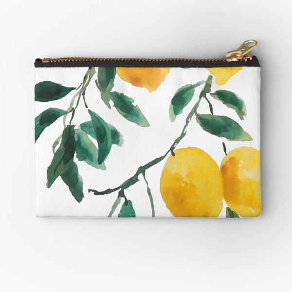 yellow lemon watercolor  Zipper Pouch
