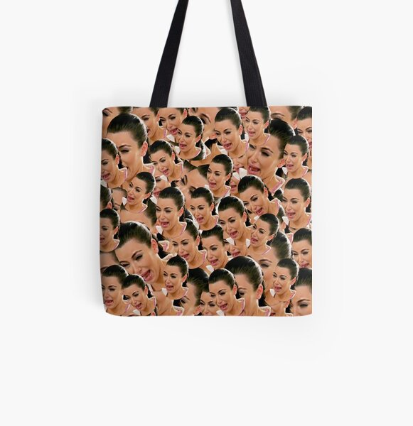 Crying Kim Kardashian All Over Print Tote Bag