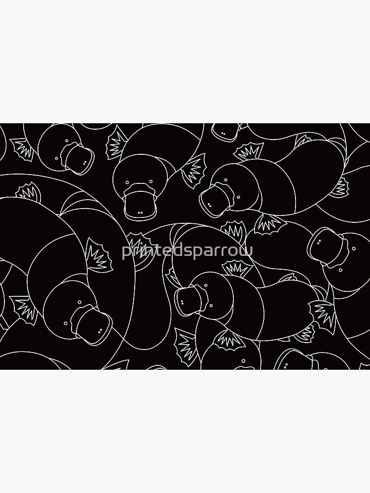 Minimalist Platypus Black and White by printedsparrow