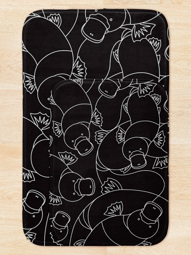 Alternate view of Minimalist Platypus Black and White Bath Mat
