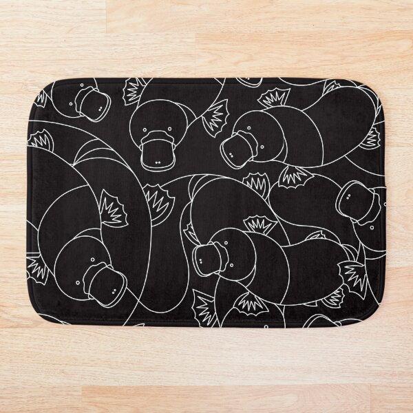 Minimalist Platypus Black and White Bath Mat
