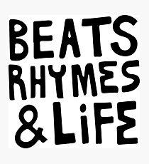 Beats, Rhymes & Life Photographic Print