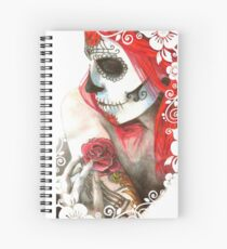 Candy Skull Chick Spiral Notebook