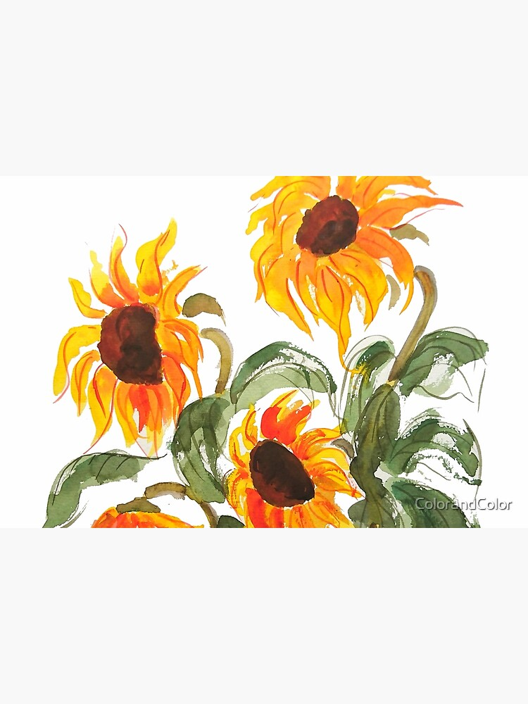 sunflower watercolor 2018 by ColorandColor