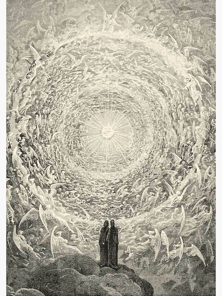 ANGELS AND DEMONS. Dante, Heaven, Heavenly, The Divine Comedy, Gustave Dore, Highest, Heaven. by TOMSREDBUBBLE