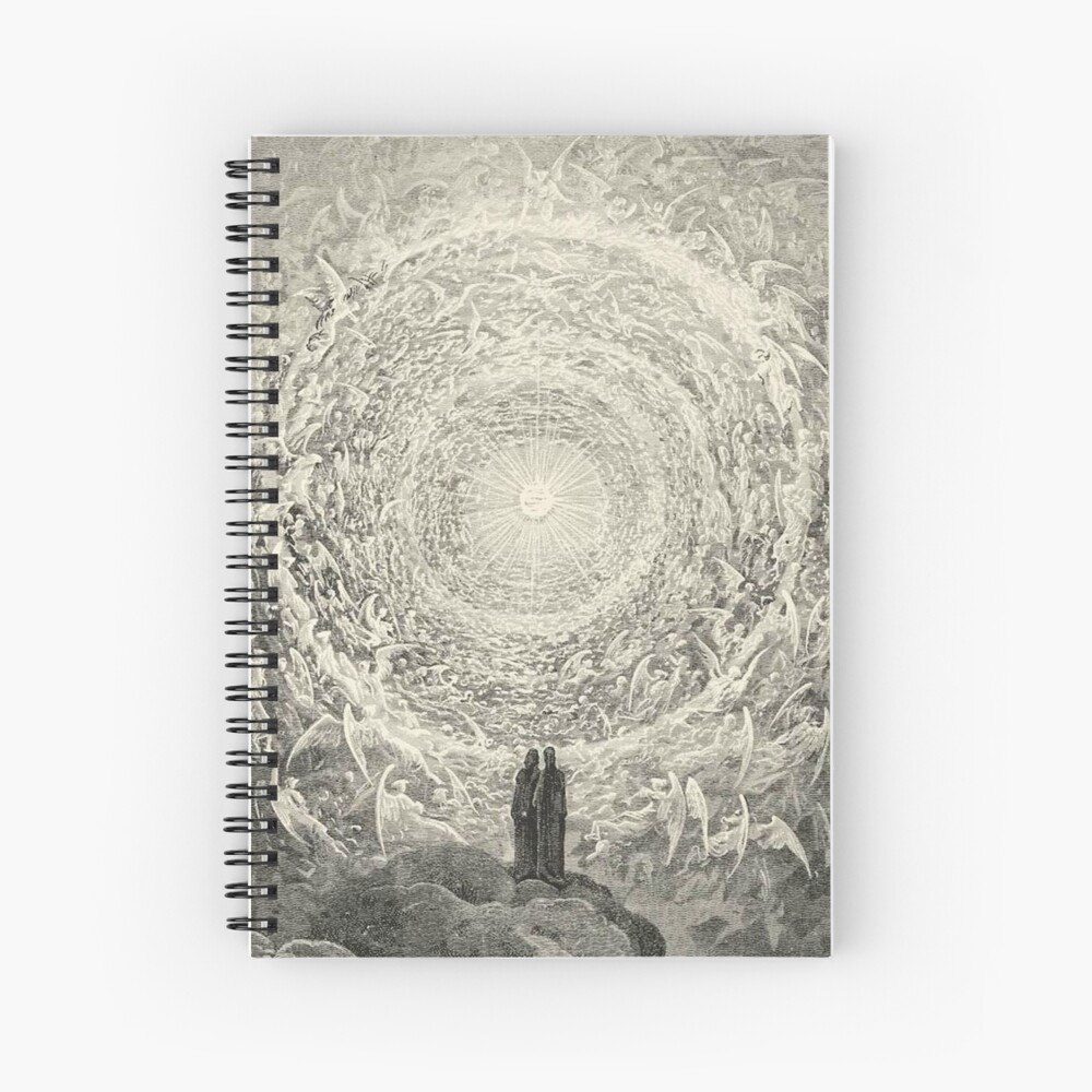 ANGELS AND DEMONS. Dante, Heaven, Heavenly, The Divine Comedy, Gustave Dore, Highest, Heaven. Spiral Notebook