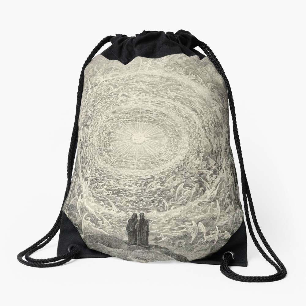 Dante, Heaven, Heavenly, The Divine Comedy, Gustave Doré, Highest, Heaven Drawstring Bag